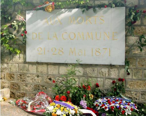 visite Père Lachaise Historie de la Commune aux mur des fédérés
