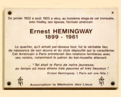 visite le Paris d'Hemingway